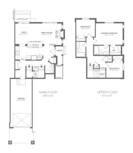 ZEN Ravenswood in Airdrie - Pacific Floorplan
